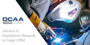 Service & Equipment records in sage CRM