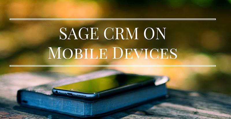 sage crm mobile device access